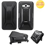 For G530 Galaxy Grand Prime Black Advanced Armor Stand Case Cover (With Holster)