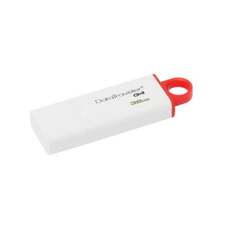 Kingston DataTraveler G4 32GB USB 3.0 Flash Drive - Red