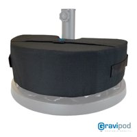Gravipod Solo Half Round Umbrella Base Weight Bag - Up to 50 lbs.