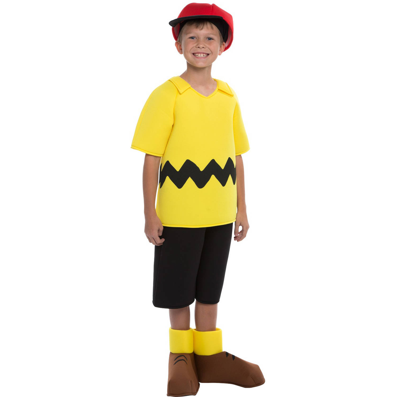 peanuts: deluxe charlie brown child halloween costume - walmart
