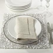 Saro Lifestyle Hemstitched Dinner Napkins (Set of 12)