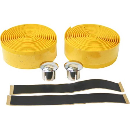 - 2 Pc Gold Bicycle Eva Cork Tape For Handle Bars Parts Replacement Bike
