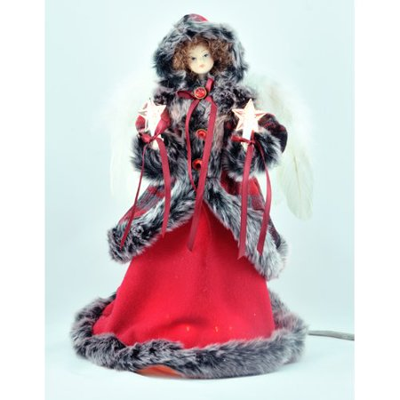 Black Angel Christmas Tree Topper.The Holiday Aisle Red Black Angel Tree Topper Walmart Com