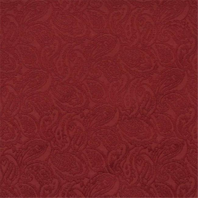Designer Fabrics E579 54 in. Wide Red, Paisley Jacquard Woven Upholstery Grade Fabric
