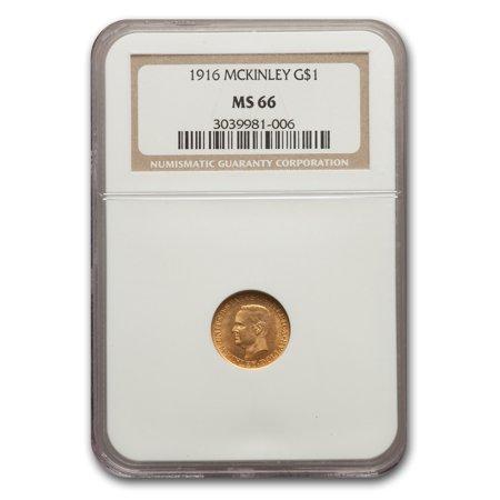 1916 Gold $1.00 McKinley Commemorative MS-66 NGC