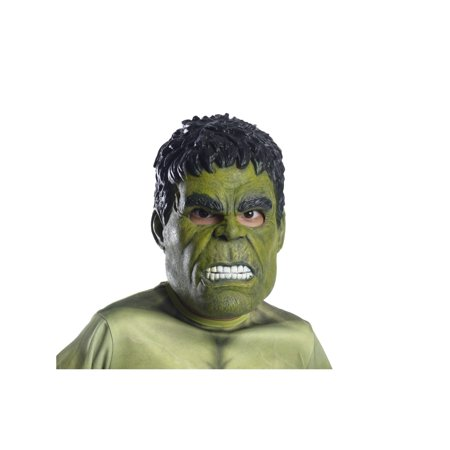 Marvel Avengers Infinity War Hulk 3/4 Child Mask Halloween Costume Accessory - Halloween Mask Out Of Paper Plates