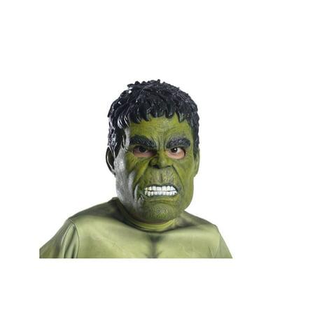 Marvel Avengers Infinity War Hulk 3/4 Child Mask Halloween Costume Accessory (Bandit Mask Halloween)