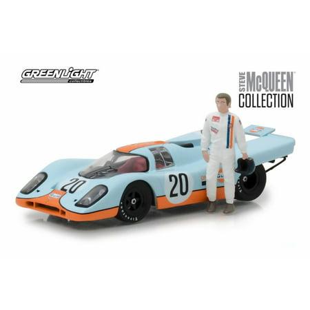 1970 Porsche 917K Gulf, #20 Steve McQueen - Greenlight 86435 - 1/43 Scale Diecast Model Toy (Steve Mcqueen Blue Eyes)
