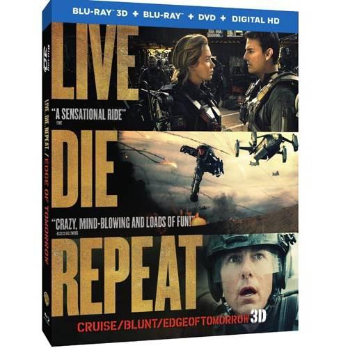 Live Die Repeat: Edge Of Tomorrow (3D Blu-ray + Blu-ray + DVD + Digital HD)