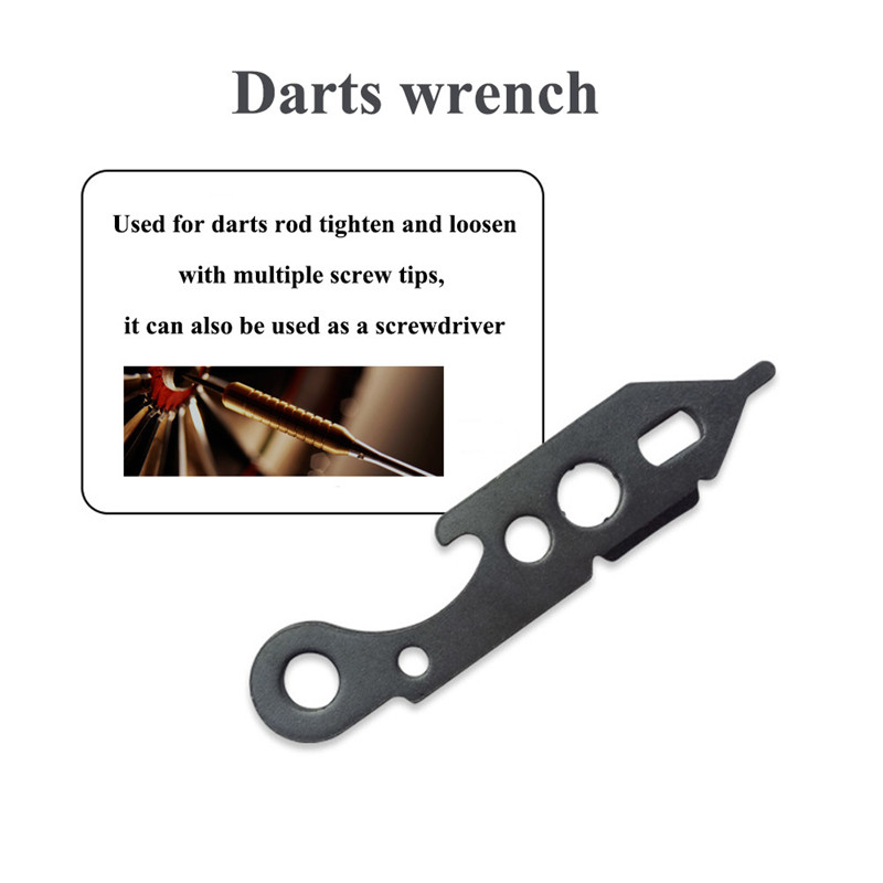 Dart Wrench Mechanic Tool for Darts Tips Shaft Tightening Keychain Bag Tag