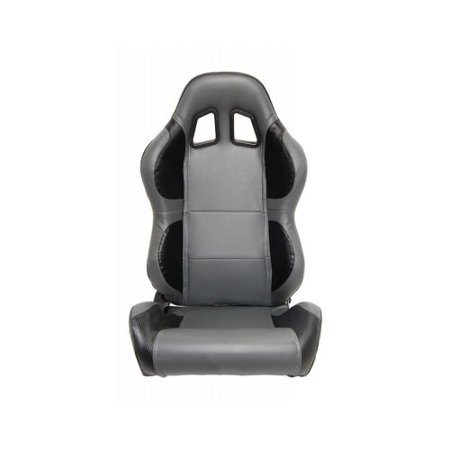 CPA1011 Full Carbon Fiber PU Cipher Auto Racing Seats In Black and Grey - Pair