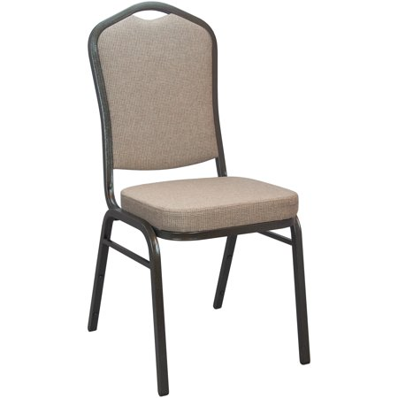 - Advantage Series Crown Back Stacking Banquet Chair with Fabric and 2.5 Thick Seat, Gold Vein Frame, Multiple Colors