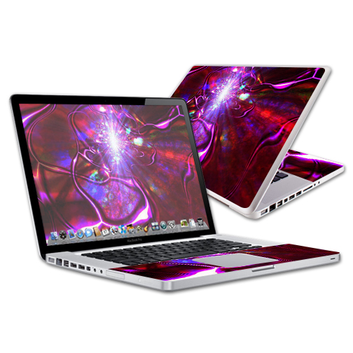 "Skin Decal Wrap for Apple MacBook Pro 15"" Retina wrap Crimson Trip"