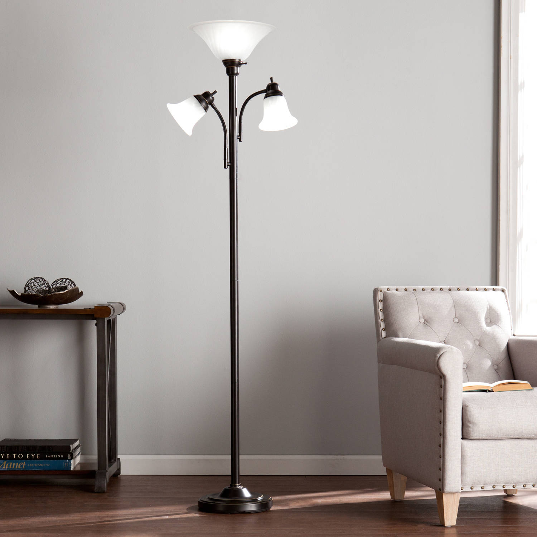 Southern Enterprises Three Light Universal Style Floor Lamp, Black by Southern Enterprises