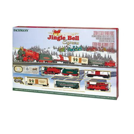 Bachmann Trains Jingle Bell Express HO Scale Ready-to-Run Electric Train Set (Electric Express)