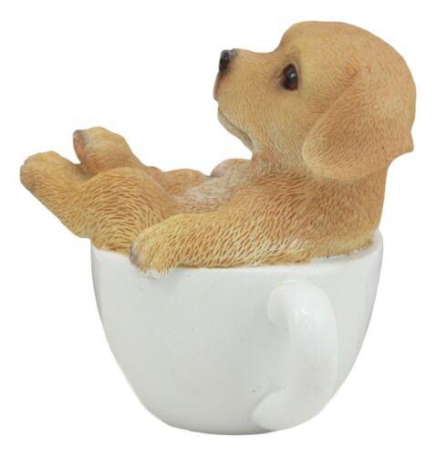 """Ebros Realistic Adorable Labrador Puppy Teacup Statue 5.5/"""" Tall Pet Pal Labrador"""