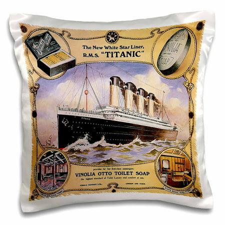 3dRose Vintage White Star Line Titanic Vinolia Otto Toilet S