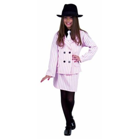 Child's Pink Gangster Moll Costume~Large 10-12 / Pink](Gangsters Moll Costume)