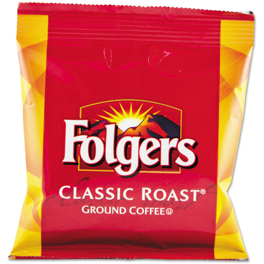 Folgers Classic Roast Ground Coffee, 1.5 oz, 42 count