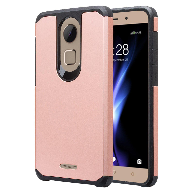 T-Mobile REVVL Plus Case, Coolpad Revvl Plus, Tmobile REVVL+ Cases, Rugged Hybrid Shockproof Cover - Rose Gold