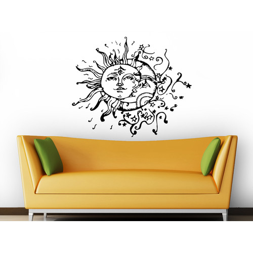 Decal House Sun and Moon Wall Decal
