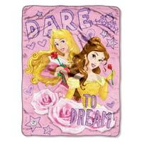 Micro Raschel Throws - Disney Princess Dare to Dream Fleece New