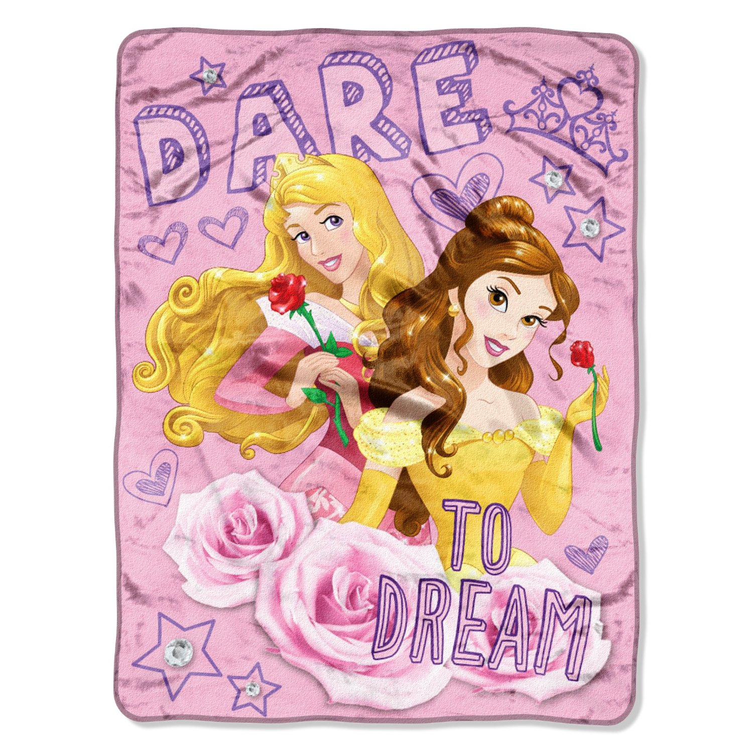 Micro Raschel Throws - Disney - Princess Dare to Dream Fleece New 286382