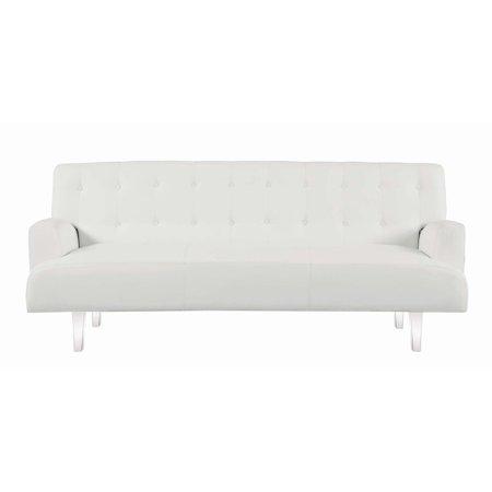 Coaster Contemporary White Sofa Bed 360049