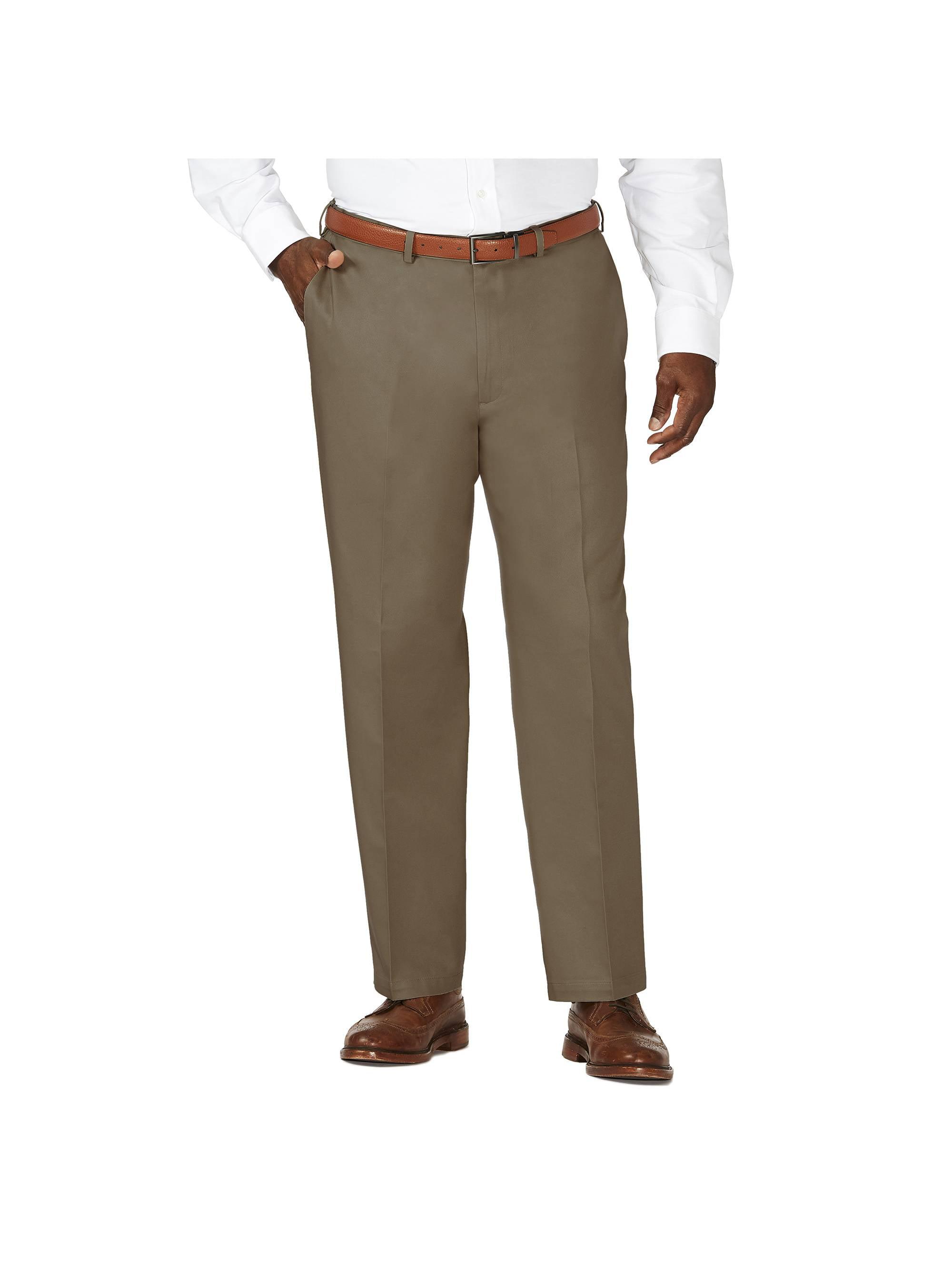 Haggar Men/'s Big /& Tall Stretch Denim Pleat Front Trouser Classic Fit HC90280