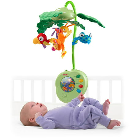 Fisher Price Rainforest Peek A Boo Leaves Musical Mobile Walmart