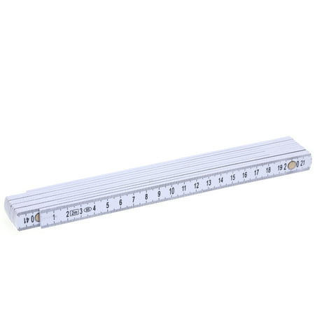 - 2M Slide Ten-Parts Fold Up Rulers 6.6ft Folding Versatile Inside Reading Carpenter's Ruler Education Meter Lightweight and Compact Measuring Tool