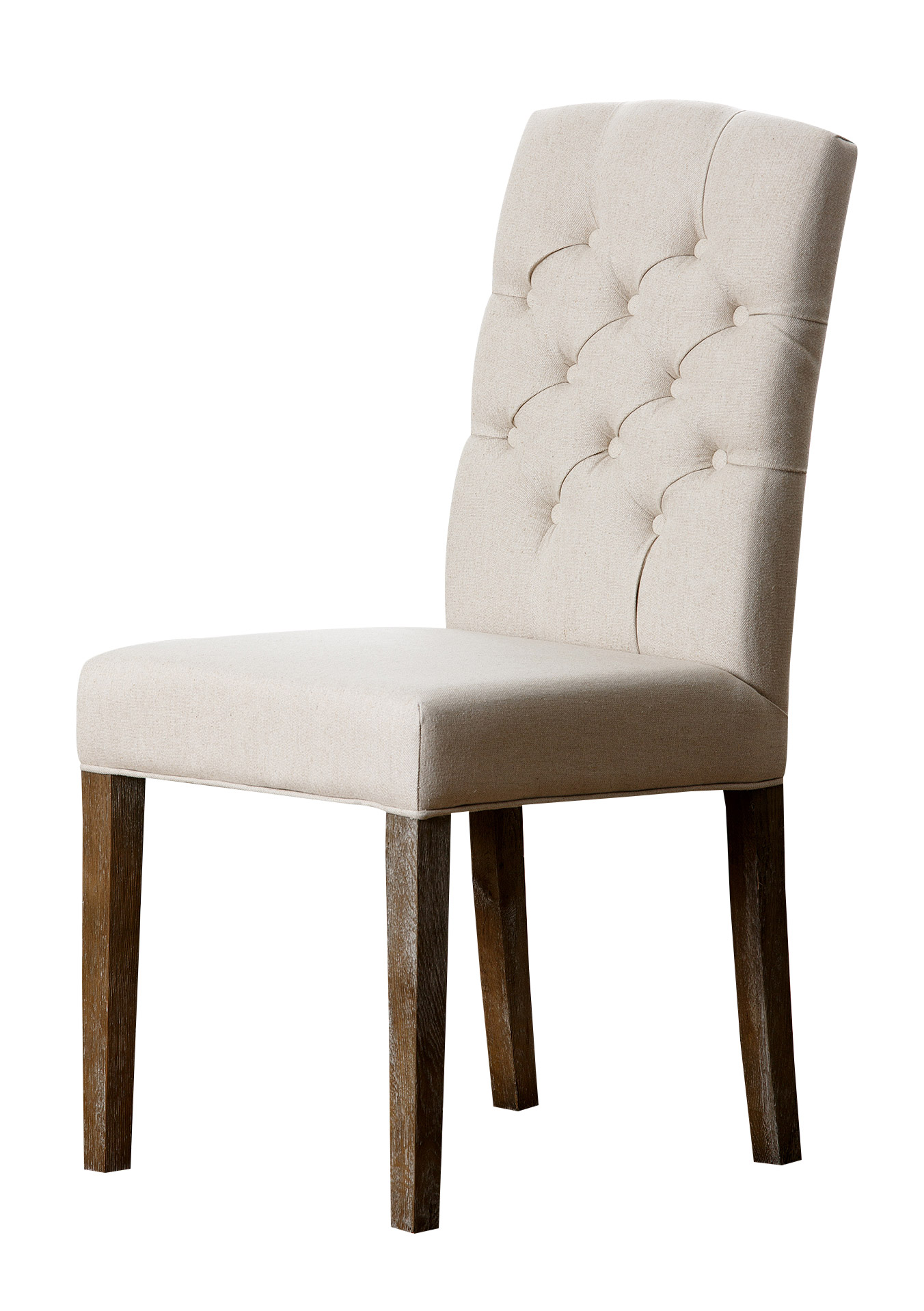 Abbyson Living Jonah Linen Fabric Tufted Dining Chair Multiple