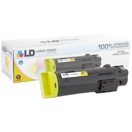 LD Compatible Dell 593-BBPE / 1MD5G Yellow Toner Cartridge for Laser H825cdw, S2825cdn Q2682a Compatible Yellow Laser