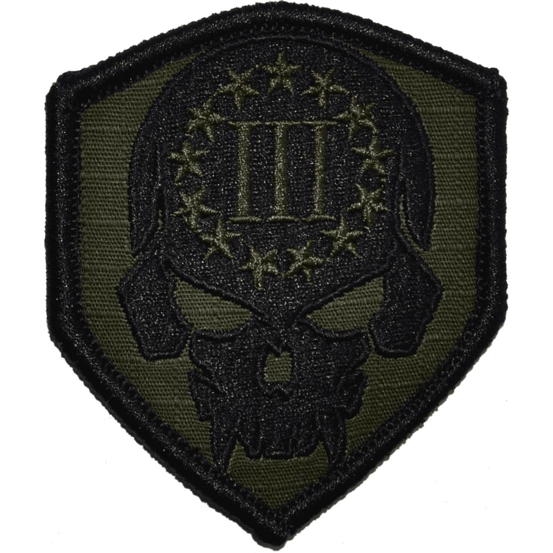 3 Percenter Skull - 2.5x3 Shield Patch