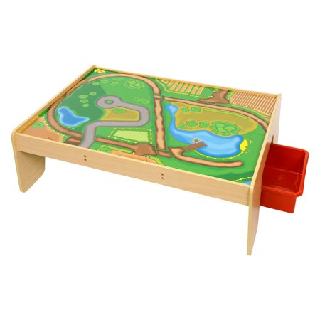 Bigjigs Toys Train Table with Drawers Bigjigs Toys Train Table with Drawers