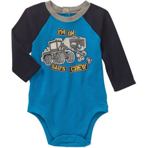 Garanimals Newborn Baby Boy Long Sleeve Graphic Raglan Bodysuit