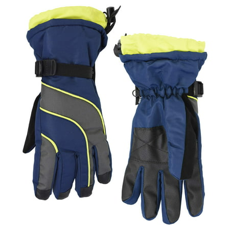 Men's Cold Front Thinsulate Technical Snowboard Gloves with Zipper Pocket (Waterproof, Windproof and Breathable)