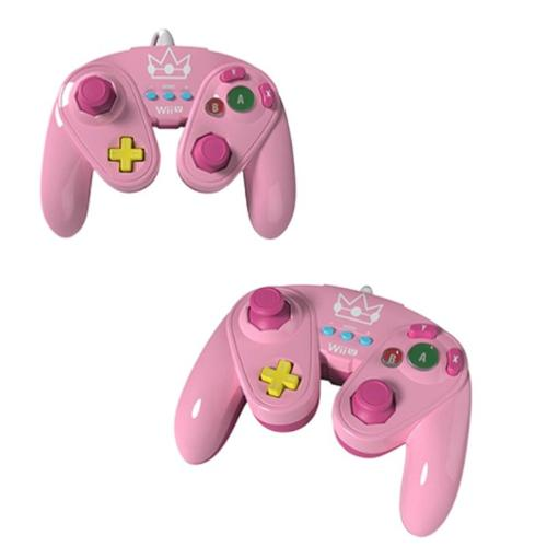 Princess Peach Nintendo Fight Pad Wired Controller For Nintendo Wii/Wii U