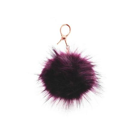 Foxy Purse - CC Fox Faux Fur Cell Phone Purse Key Chain