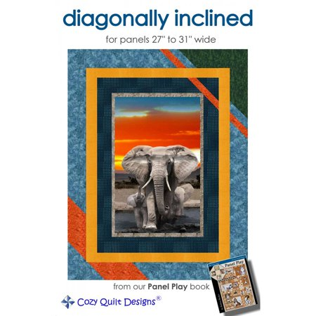 Diagonally Inclined Quilt Pattern by Cozy Quilt Designs (Pattern Cozy Quilt Designs)