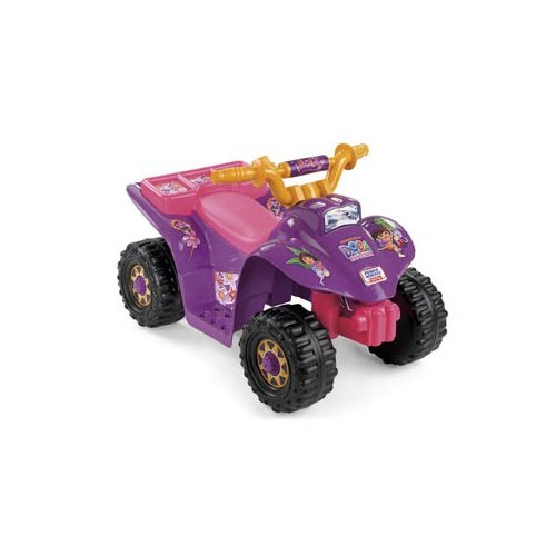 Fisher-Price Power Wheels Dora 10th Anniversary Lil Quad ATV Battery Powered Riding Toy