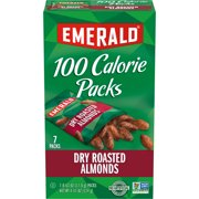 Emerald Nuts Dry Roasted Almonds, 100 Calorie Packs, 7 Ct