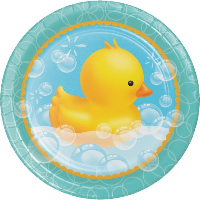 "Party Creations Bubble Bath Dinner Plate, 9"", 8 Ct"
