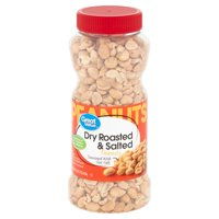 Great Value Dry Roasted & Salted with Sea Salt Peanuts, 16 Oz.