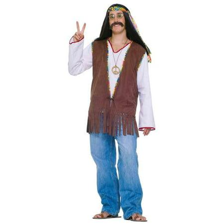 Morris Costumes FM61664 Faux Suede Hippie Vest Costume - Hippy Vest