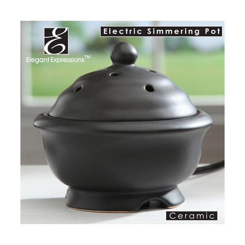 Elegant Expressions by Hosley Black Electric Oil Warmer