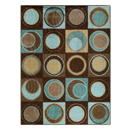 Printed Circles (Better Homes & Gardens Circle Block Textured Print Area Rug or Runner )