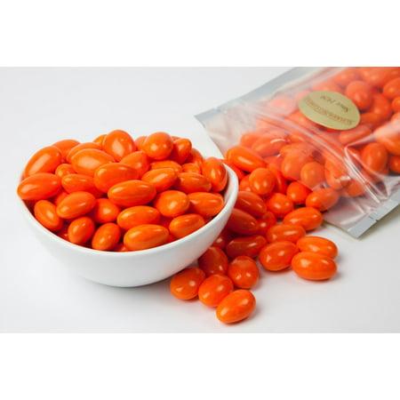 Bright Orange Jordan Almonds (1 Pound Bag)