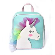 Charming Charlie Kids Unicorn Backpack - Holographic Rainbow Mane, Adjustable Carry Straps - Multicolored