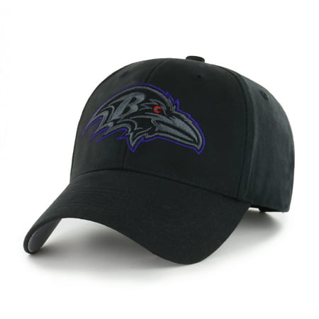Baltimore Ravens Womens Hats - NFL Baltimore Ravens Black Mass Basic Adjustable Cap/Hat by Fan Favorite